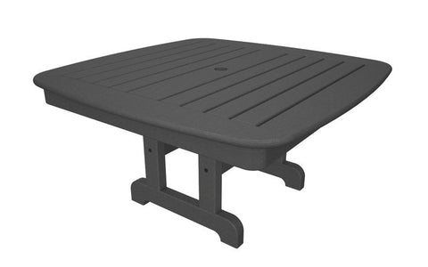 "Polywood NCCT37GY Nautical 37"" Conversation Table in Slate Grey - PolyFurnitureStore"