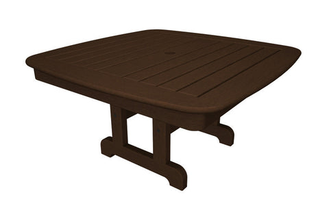 "Polywood NCCT37MA Nautical 37"" Conversation Table in Mahogany - PolyFurnitureStore"