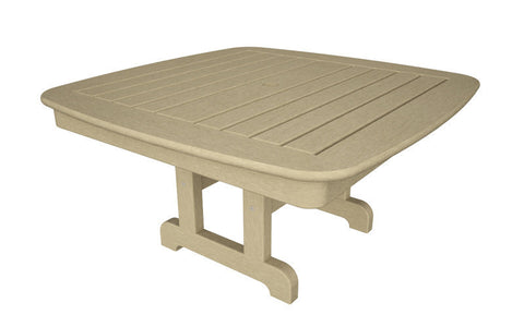 "Polywood NCCT37SA Nautical 37"" Conversation Table in Sand - PolyFurnitureStore"