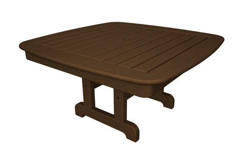 "Polywood NCCT37TE Nautical 37"" Conversation Table in Teak - PolyFurnitureStore"