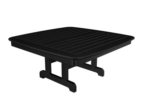 "Polywood NCCT44BL Nautical 44"" Conversation Table in Black - PolyFurnitureStore"