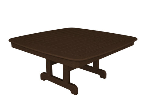 "Polywood NCCT44MA Nautical 44"" Conversation Table in Mahogany - PolyFurnitureStore"