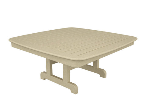 "Polywood NCCT44SA Nautical 44"" Conversation Table in Sand - PolyFurnitureStore"