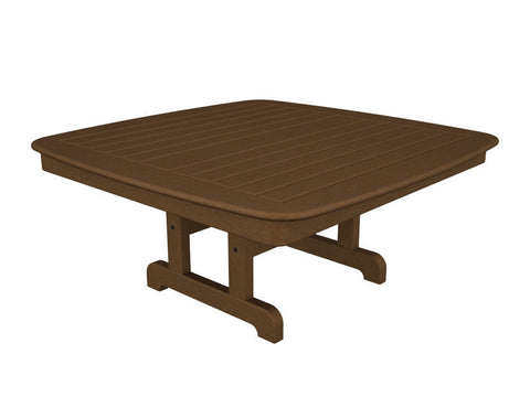 "Polywood NCCT44TE Nautical 44"" Conversation Table in Teak - PolyFurnitureStore"