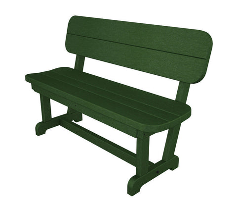 "Polywood PB48GR Park 48"" Bench in Green - PolyFurnitureStore"