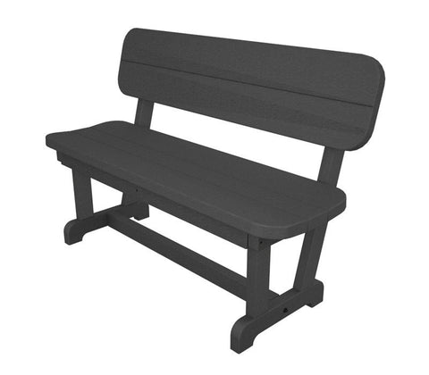 "Polywood PB48GY Park 48"" Bench in Slate Grey - PolyFurnitureStore"