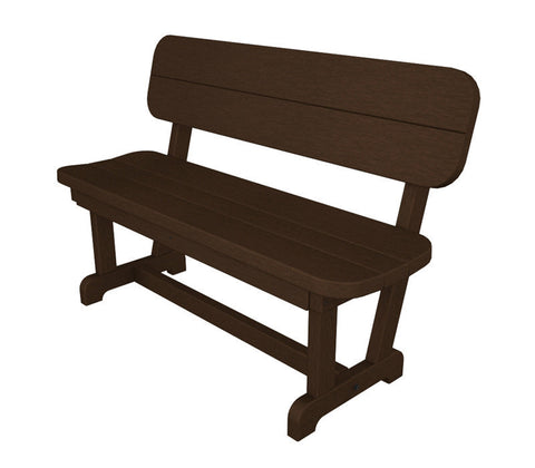"Polywood PB48MA Park 48"" Bench in Mahogany - PolyFurnitureStore"