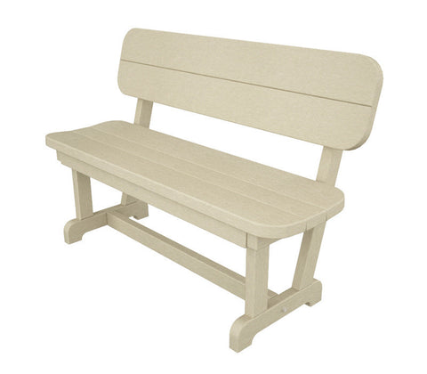 "Polywood PB48SA Park 48"" Bench in Sand - PolyFurnitureStore"