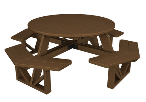 "Polywood PH53TE Park 53"" Octagon Table in Teak - PolyFurnitureStore"