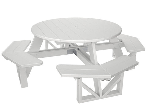 "Polywood PH53WH Park 53"" Octagon Table in White - PolyFurnitureStore"