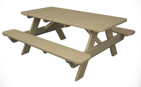 "Polywood PT172SA Park 72"" Picnic Table in Sand - PolyFurnitureStore"