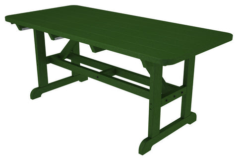"Polywood PT3672GR Park 36"" x 72"" Harvester Picnic Table in Green - PolyFurnitureStore"