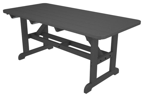 "Polywood PT3672GY Park 36"" x 72"" Harvester Picnic Table in Slate Grey - PolyFurnitureStore"