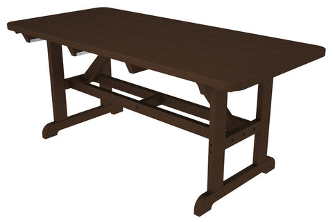 "Polywood PT3672MA Park 36"" x 72"" Harvester Picnic Table in Mahogany - PolyFurnitureStore"
