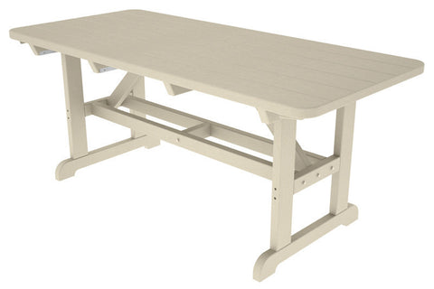 "Polywood PT3672SA Park 36"" x 72"" Harvester Picnic Table in Sand - PolyFurnitureStore"