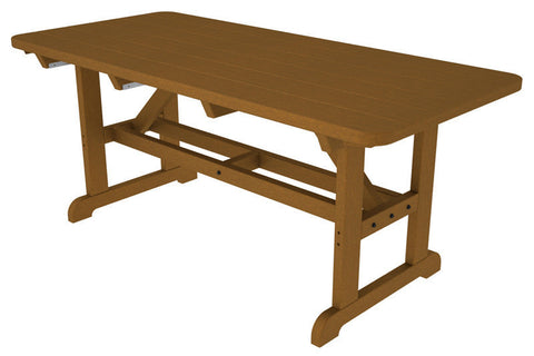 "Polywood PT3672TE Park 36"" x 72"" Harvester Picnic Table in Teak - PolyFurnitureStore"
