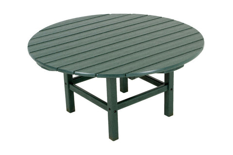 "Polywood RCT38GR Round 38"" Conversation Table in Green - PolyFurnitureStore"
