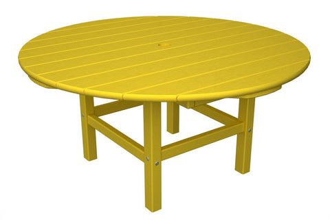 "Polywood RCT38LE Round 38"" Conversation Table in Lemon - PolyFurnitureStore"