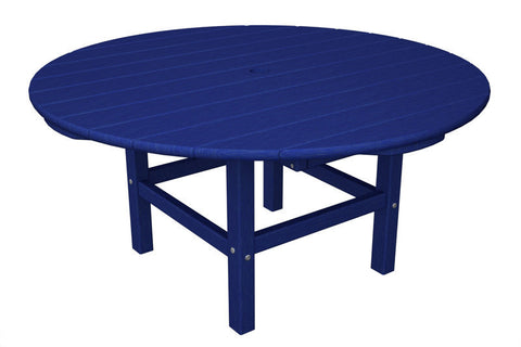 "Polywood RCT38PB Round 38"" Conversation Table in Pacific Blue - PolyFurnitureStore"