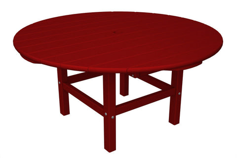 "Polywood RCT38SR Round 38"" Conversation Table in Sunset Red - PolyFurnitureStore"
