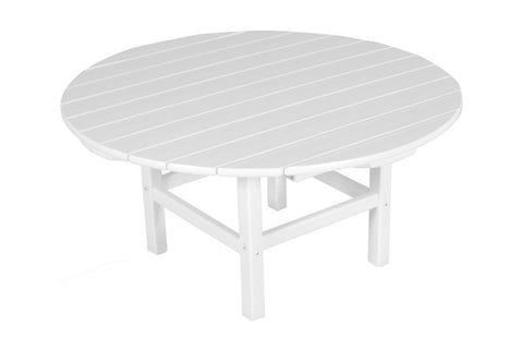 "Polywood RCT38WH Round 38"" Conversation Table in White - PolyFurnitureStore"