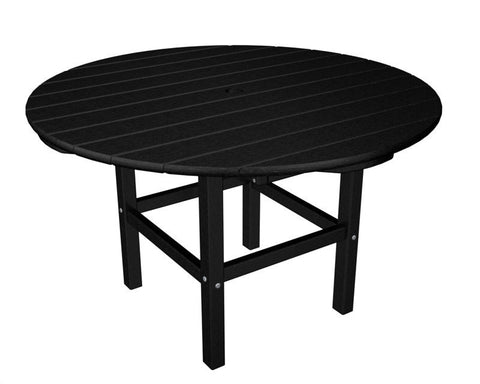 "Polywood RKT38BL 38"" Kids Dining Table in Black - PolyFurnitureStore"