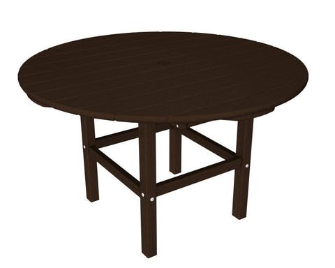 "Polywood RKT38MA 38"" Kids Dining Table in Mahogany - PolyFurnitureStore"