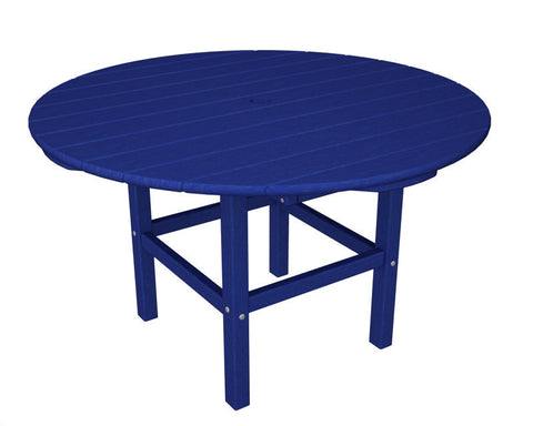 "Polywood RKT38PB 38"" Kids Dining Table in Pacific Blue - PolyFurnitureStore"