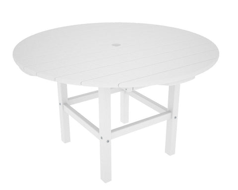 "Polywood RKT38WH 38"" Kids Dining Table in White - PolyFurnitureStore"