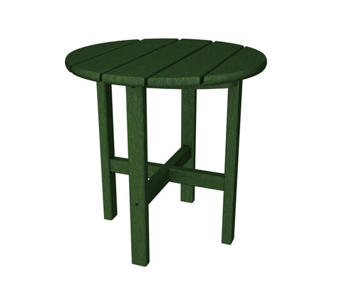 "Polywood RST18GR Round 18"" Side Table in Green - PolyFurnitureStore"