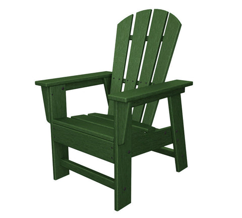 Polywood SBD12GR Kids Casual Chair in Green - PolyFurnitureStore