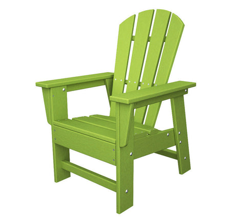 Polywood SBD12LI Kids Casual Chair in Lime - PolyFurnitureStore