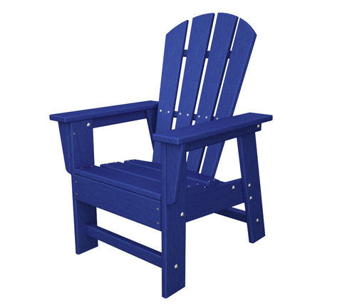 Polywood SBD12PB Kids Casual Chair in Pacific Blue - PolyFurnitureStore