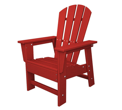 Polywood SBD12SR Kids Casual Chair in Sunset Red - PolyFurnitureStore