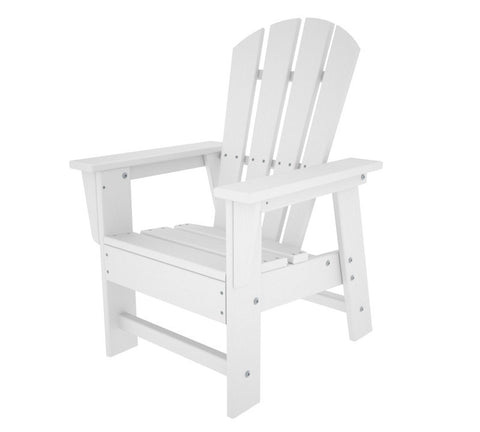 Polywood SBD12WH Kids Casual Chair in White - PolyFurnitureStore