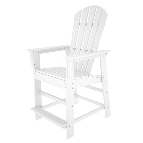 Polywood SBD24WH South Beach Counter Chair in White - PolyFurnitureStore