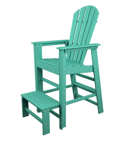 Polywood SBL30AR South Beach Lifeguard Chair in Aruba - PolyFurnitureStore