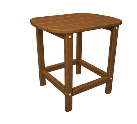 "Polywood SBT18TE South Beach 18"" Side Table in Teak - PolyFurnitureStore"