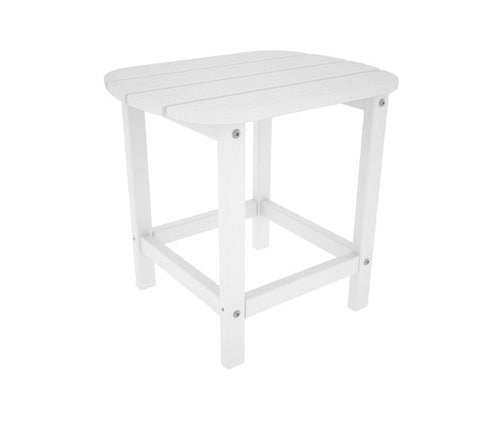 "Polywood SBT18WH South Beach 18"" Side Table in White - PolyFurnitureStore"