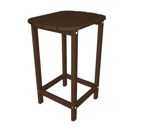 "Polywood SBT26MA South Beach 26"" Counter Side Table in Mahogany - PolyFurnitureStore"