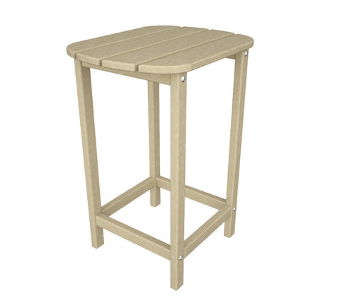 "Polywood SBT26SA South Beach 26"" Counter Side Table in Sand - PolyFurnitureStore"