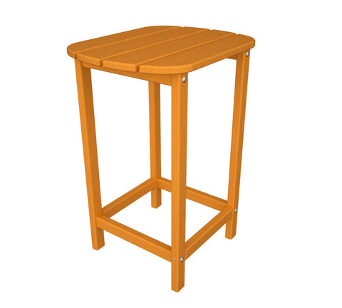 "Polywood SBT26TA South Beach 26"" Counter Side Table in Tangerine - PolyFurnitureStore"