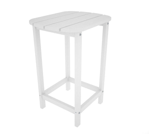 "Polywood SBT26WH South Beach 26"" Counter Side Table in White - PolyFurnitureStore"