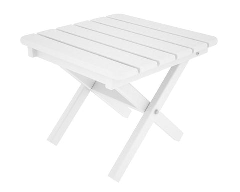 "Polywood ST1818WH Square 18"" Side Table in White - PolyFurnitureStore"