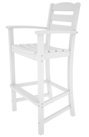 Polywood TD202WH La Casa Café Bar Arm Chair in White - PolyFurnitureStore
