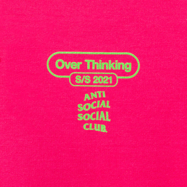 Over Thinking 21 Pink Hoodie