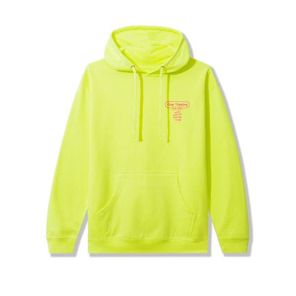 Over Thinking 21 Neon Green Hoodie