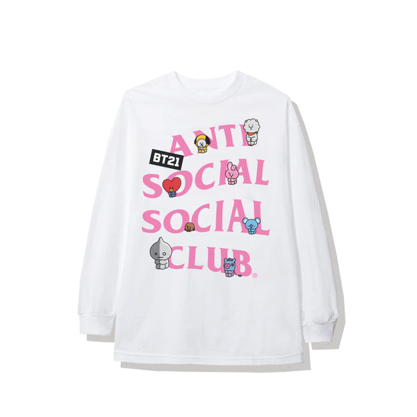 BT21 | ASSC Back Track White Long Sleeve Tee