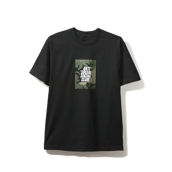 Camo Box Logo Black Tee