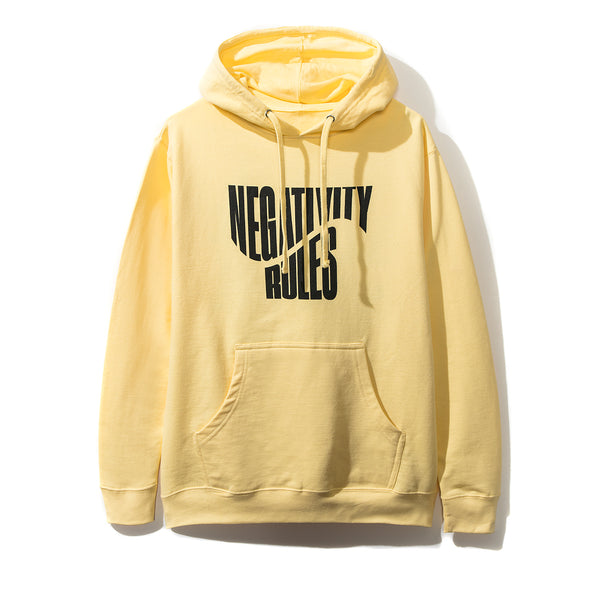 Negativity Rules Yellow Hoodie